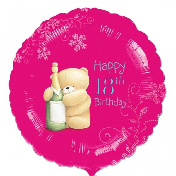 Pink Happy 18th Birthday Balloon: Pink Happy 18th Foil Balloon